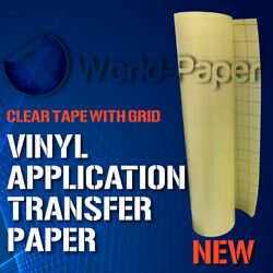 Vinyl Application Transfer Paper Clear Tape with Grid by FootYard