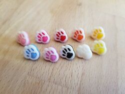 Plastic Paw Print Buttons GBP 1.80