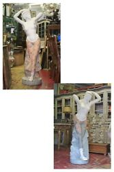 Pair of Statues in Marble Huge Polychrome Age '900  Couple of Statues Marble