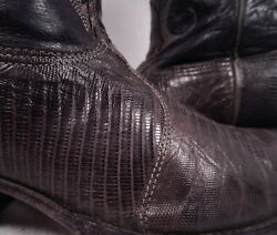EXOTIC NOCONA GENUINE LIZARD SKIN & LEATHER WESTERN COWBOY BOOTS 7 D WOMENS 8.5W