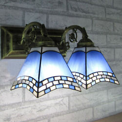 Tiffany Handcrafted Wall Light Sconce Bathroom Vintage Stained Glass Wall Lamp $69.99