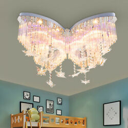 Butterfly Ceiling Lamps Crystal Light LED Lighting Hanging Line Shade Chandelier $199.00