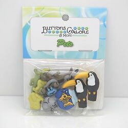 Exotic Pets Buttons Galore scrapbook craft $3.39