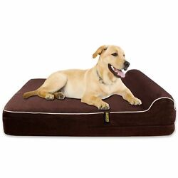 OPEN BOX Bed Dogs Viscoelastic Memory with Pillow Brown 127 cm XL $119.66