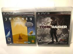 PS3 JOURNEY COLLECTORS ED. & TOMB RAIDER BRAND NEW SEALED