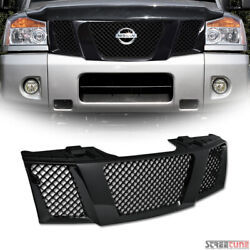 For 04+ Nissan TitanArmada Blk Bentley Mesh Front Grill Grille Kit Replacement