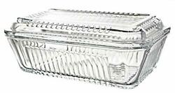 Glass Butter Dish with Lid Multi-Purpose Preserving Serving Dessert Dish Tray
