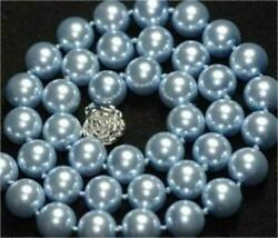 Charmming 10mm Sky blue South Sea shell Pearl Necklace 18