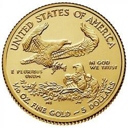 110 oz Gold American Eagle - Dates Our Choice