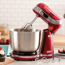 ELECTRIC STAND MIXER 6 SPEED KITCHEN MIX BEATER TILT HEAD STAINLESS STEEL BOWL $59.99