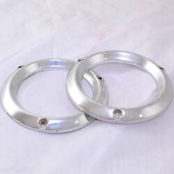 1961 Cadillac Fleetwood Deville Parking Light Trim Bezel Pair