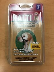 HALTI Dog Head Collar SZ 3 Top Paw Free Training Manuel $12.99