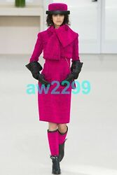CHANEL MOST WANTED RUNWAY 2 PIECE DRESS JACKET SUIT LOOK 1 FALL 2016 42 NWT
