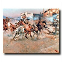 Russell Pistol Western Cowboy Wall Picture Art Print $11.97