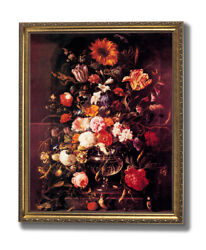 Victorian Butterfly And Flowers Contemporary Wall Picture Gold Framed Art Print $64.97