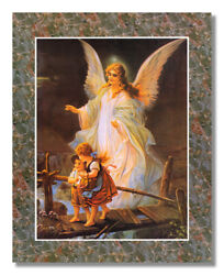 Guardian Angel Children On Bridge #2 Wall Picture Art Print $11.97