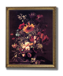Rose Flowers Daisy Butterfly Contemporary Wall Picture Gold Framed Art Print $64.97