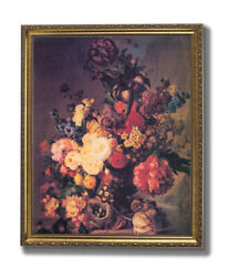 Butterfly Flower French Contemporary Wall Picture Gold Framed Art Print $64.97
