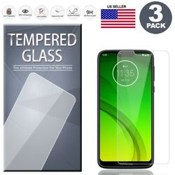 3 Pack Tempered Glass Screen Protector For Motorola Moto G7 Play G7 Power Supra $3.79