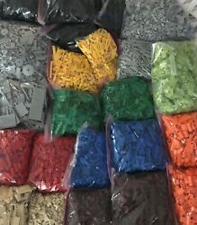 LEGO 100 PIECES FROM BULK SORTED LOT RANDOM SELECTION CHOICE OF COLOR amp; QTY $28.00