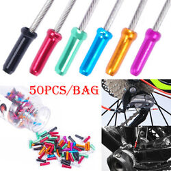 50pcs Aluminum Bike Bicycle Brake Shifter Inner Cable Tips Wire End Cap Crimps $3.99