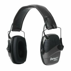 Howard Leight Impact Sport Sound Amplification Electron. Earmuff Black #R-02524