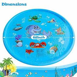 Outdoor Sprinkler pad & Splash Play Mat Inflatable Outdoor Water Pad Toys for Ch