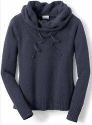 New Columbia She Pines For Alpine II Cowl Neck Pullover Sweater Size Small P