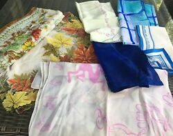 Lot (7) Excellent Vtg Silk & Nylon Scarves - These Are Gorgeous! Some NWT