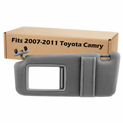 New Grey Sun Visor Left Driver for 2007 2011 Toyota Camry Without Vanity Light $24.95