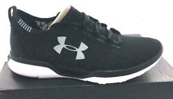 Men#x27;s Under Armour Charged Coolswitch Run Running Shoe Black White NEW $55.99