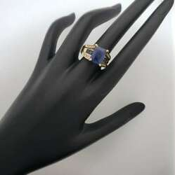 10k Yellow Lab Created Sapphire and Diamond Ring EB-BSR8J