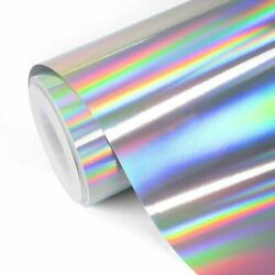 RAINBOW Holographic Vinyl Adhesive 1Ft X 5 Ft Roll Sign For Cricut Silhouette