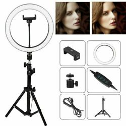 10quot; LED Ring Fill Light w Stand amp; Mount Kit for Camera Phone Selfie Video Stream $35.99