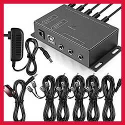 Infrared Repeater System IR Kit Control Up To 10 Devices Hidden Remote Extender