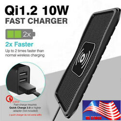 Wireless 10W Fast Charging For Samsung iPhone X 8plus Universal Non-slip Mat US