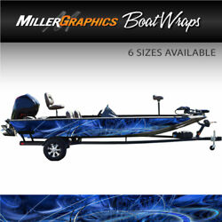 Taurus Blue Boat Wrap Kit 3M Cast Vinyl Graphic Decal - 6 Sizes Available