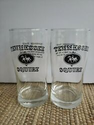 2x Jack Daniel's Tennessee Squire Glass 12oz Highball Whiskey