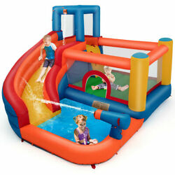 Inflatable Splash Water Bouncer Jump Castle Kids Bounce House w Climbing Wall