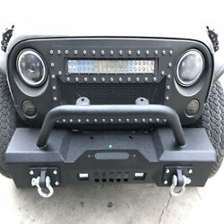 Front Bumper For 07-18 Jeep Wrangler JK Rock Crawler With Fog Hole
