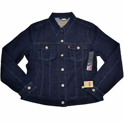 Levis Womens Jean Jacket Long Sleeve Button Up Outerwear S M New Nwt Original $41.99