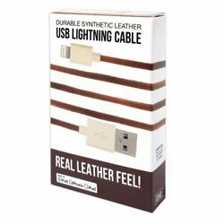 Gems Gemlbn Brown Usb Lightning Cable With Real Leather $15.95