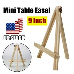 Mini Portable Wood Table Top Wooden Card Easel Wedding Picture Display Stand US