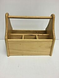 Wooden Condiment  Utensil  Napkin Holder Caddy