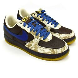NWT Nike Air Force 1 Inside Out Laser Baroque Brown Blue 9.5 2005 DS AUTHENTIC $299.00