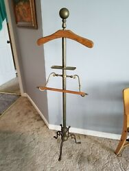 RARE DECORATIVE CRAFTS POSTMODERN BRASS  MEN'S VALET BUTLER STAND