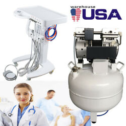Medical Dental Air Compressor Noiseless Oilless Air Motor Delivery Turbine Unit $880.00