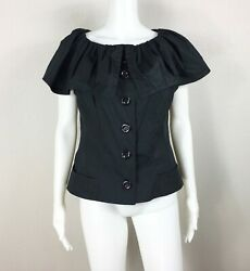 BYRON LARS NWOT Black Top with Ruffle Size 12 (fits an 810) - NTSF