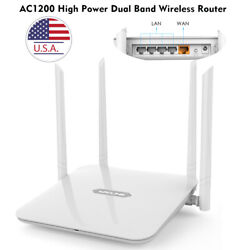 1200Mbps Gigabit WLAN WIFI Router Dual Band 2.4GHz5GHz 4xLAN Access Point PPPOE