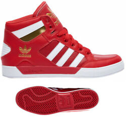 New adidas Originals  Hard Court Mens red gold sneaker all sizes